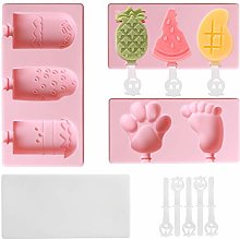 Ice Lolly Moulds, KOLLNIUN Ice Cream Mould of 3