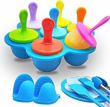 Ice Lolly Moulds,Popsicle Maker Set, 7-Cavity DIY