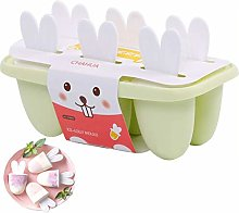 Ice Lolly Moulds, Reusable Popsicle Mould, 6 Lolly