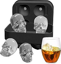 Ice Mold Skull 3D Flexible Silicone Ice Cube Molds