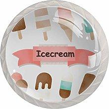 Icecream Pattern Drawer Round Knobs Cabinet Pull
