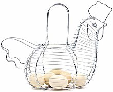 Icegrape Egg Basket with Handle Egg Holder Metal
