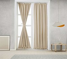 Icegrey 2 Panels French Door Curtains Thermal