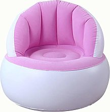 Icepeach Kids Flocking Chair Pouf with Backrest