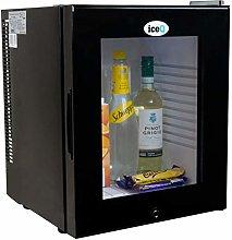 iceQ 24 Litre Deluxe Glass Door Black Mini Bar