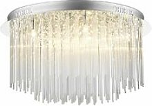 Icicle ceiling light glass and polished chrome 8