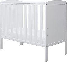 Ickle Bubba Coleby Space Saver Cot, Pine, White,