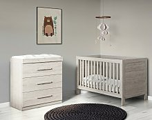 Ickle Bubba Grantham 2 Piece Nursery Set - Grey Oak