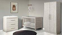 Ickle Bubba Grantham 3 Piece Nursery Set - Grey Oak