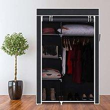 ICOCO Canvas Wardrobe Bedroom Furniture Cupboard