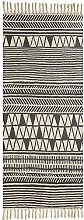 Icole Cotton Area Rug Vintage, Hand Woven Print