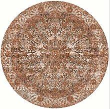 Icole Cotton Round Area Rug,European Ethnic Round
