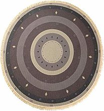 Icole Cotton Round Area Rug with Tassels Hand