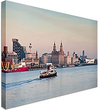 Iconic Liverpool Skyline 40x20 inches | Canvas Art