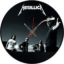 Iconic Metallica vinyl record wall clock