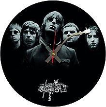 Iconic Oasis vinyl record wall clock