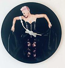 Iconic Pink vinyl record wall clock
