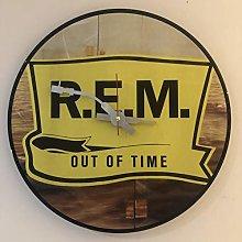 Iconic REM vinyl record wall clock