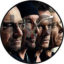 Iconic U2 vinyl record wall clock