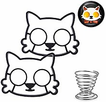 ICYANG 2 Pieces Fried Egg Molds, Cute Silicone Cat