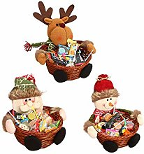 ICYANG 3Pcs/Lot Christmas Candy Storage Basket
