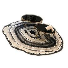Iczodrow Big Round Area Fur Rug For Living Room,