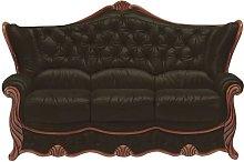 Idaho 3 Seater Sofa Genuine Italian Leather Settee