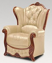 Idaho Armchair Genuine Italian Leather Nut Sofa