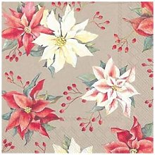 ideal home range - 40 x 3 ply Poinsettia Flowers