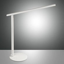 Ideal LED desk lamp with a dimmer, white