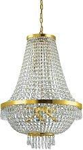 Ideal Lux Caesar - 12 Light Pendant Light Gold, G9
