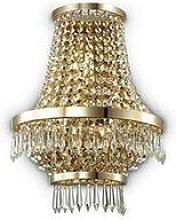 Ideal Lux Caesar - 3 Light Indoor Wall Light Gold