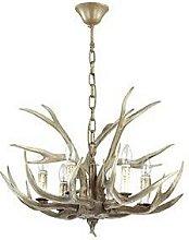 Ideal Lux Chalet - 6 Light Pendant Chandelier