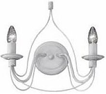 Ideal Lux Corte - 2 Light Indoor Candle Wall Light