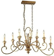 Ideal Lux Cortina - 10 Light Chandelier Brown