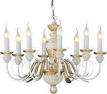 Ideal Lux Firenze - 8 Light Chandelier Ivory, Gold