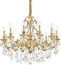 Ideal Lux Gioconda - 12 Light Pendant Light Gold