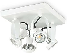 Ideal Lux GLIM - Indoor 4 Lights Ceiling Spotlight