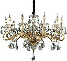 Ideal Lux Negresco - 10 Light Chandelier Gold
