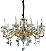 Ideal Lux Negresco - 8 Light Chandelier Gold