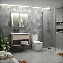 Ideal Standard 2-Door Mirror Cabinet with Bottom