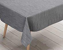 Ideal Textiles Texture Fabric Look PVC Tablecloth,