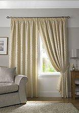 Ideal Textiles Tivoli, Cream Lined Curtains,