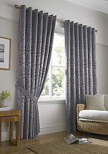 Ideal Textiles Tivoli, Silver Lined Curtains,