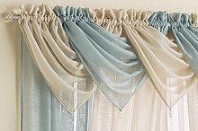 Ideal Textiles, Voile Curtain Swag, Silver