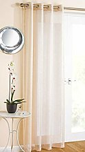 Ideal Textiles White Eyelet Voile Curtain Panel,