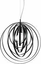 Ideallux - Black pendant light DISCO 1 bulb