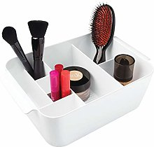 iDesign 35862 Clarity Divided Cosmetic Bin, White