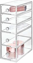 iDesign 39560 Drawers Bathroom Storage Tower,