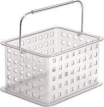 iDesign 87950 Zia Storage Basket, Small Bathroom